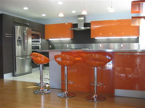 orange kitchen design orange gloss kitchen designs modern kitchen san