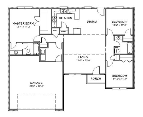 create house floor plans free house plan j1433 split floor plan