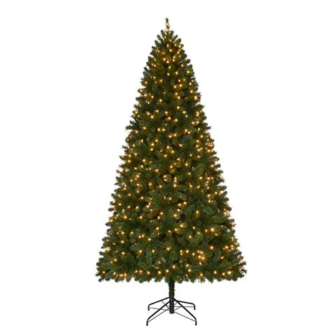 home accents holiday 9 ft pre lit led wesley spruce