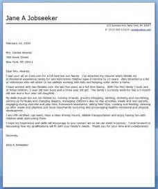 nanny cover letter sample resume downloads