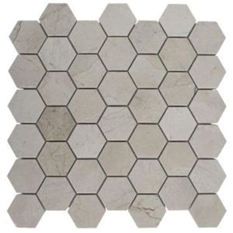 splashback tile crema marfil hexagon 12 in x 12 in x 8