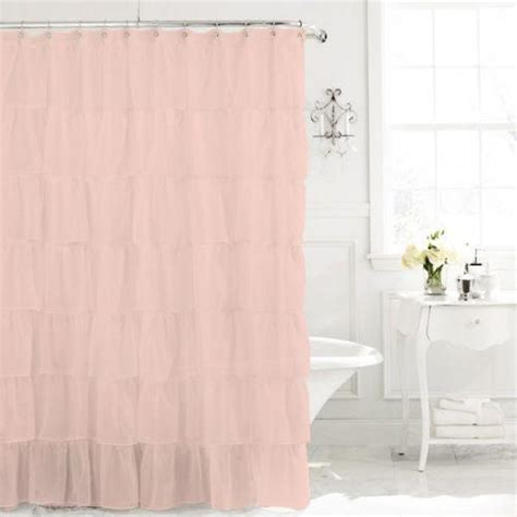 Pink Shower Curtains Light Pink Ruffle Shower Curtain Myideasbedroom