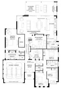 open space floor plans floor plan friday excellent 4 bedroom bifolds with integrated entertaining space