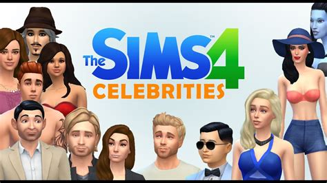 actor sims 4 sims 4 celebrities youtube