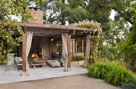 poolhouse rustic patio other by arterra landscape