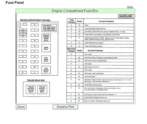ford   wd  hood fuse box diagram ford truck enthusiasts forums