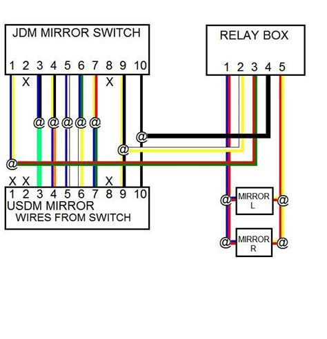 mirror diagram nissan an power mirror wiring diagram 2004 maxima get