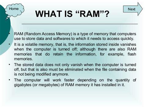 whats is ram ram rom memories