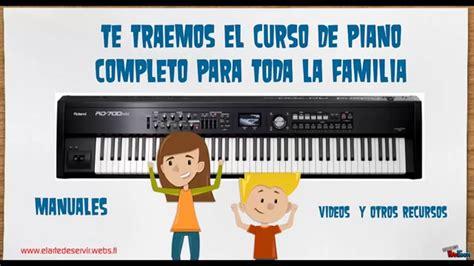 curso completo de piano 8434209551 descarga curso completo de piano manuales v 237 deos y recursos gratis youtube