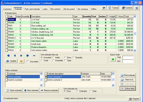 estimate master estimating software for contractors