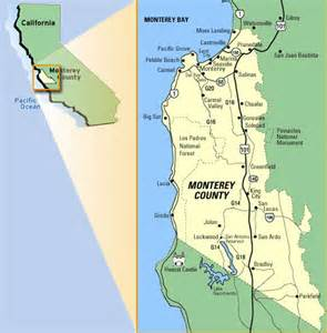 map of monterey county california get a birds eye view of the monterey peninsula with our