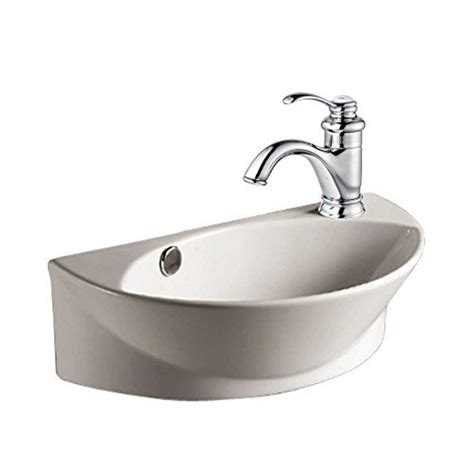 small white wall mount bathroom vessel sink tiny house