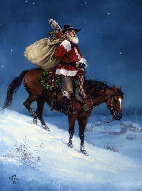 cowboy christmas   west art  jack sorenson