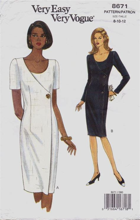 vogue pattern ease 90s very easy very vogue sewing pattern 8671 womens