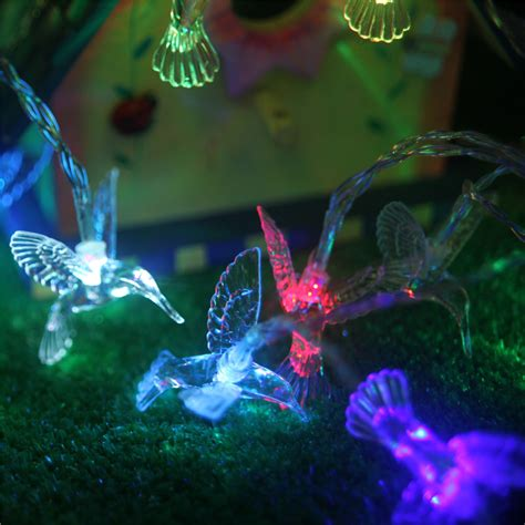 solar hummingbird light hummingbird solar light string