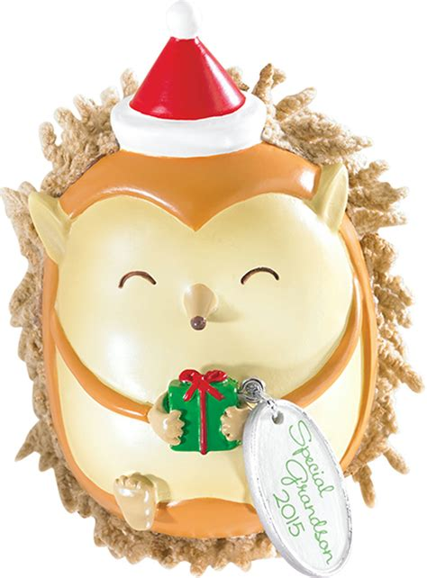 carlton heirloom ornament 2015 grandson hedgehog