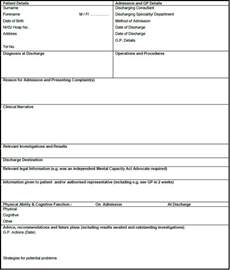 discharge summary template discharge summary template in pdf word excel format