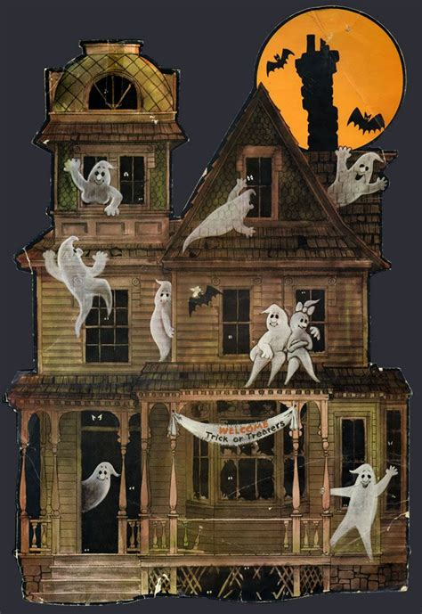 haunted mansion home decor vintage halloween decoration haunted houses pinterest rain coats house decorations and house