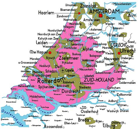 netherlands map and cities map of netherlands political regional province
