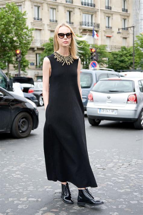Ilonna Maxi 45 ideas para usar un maxi vestido negro cut paste
