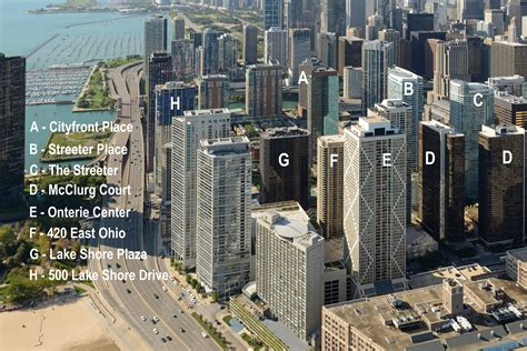 Apartments Downtown Chicago Illinois A Helicopter Map Of Streeterville Apartments
