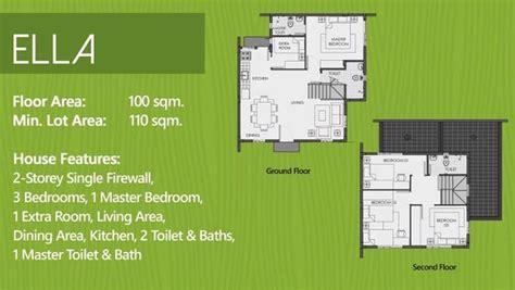 camella homes design with floor plan 2 storey house ella model dumagueteph com