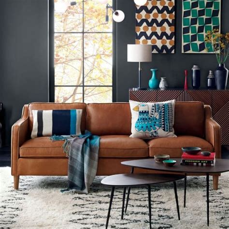 cognac leather chair and ottoman cognac leather sofas are now on trend for 2018 homes