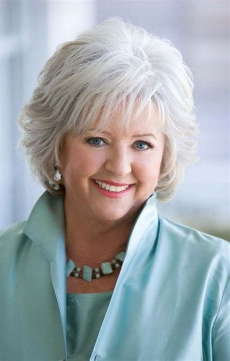 gray hairstyles for women over 60 short hairstyle for mature women over 60 from paula deen