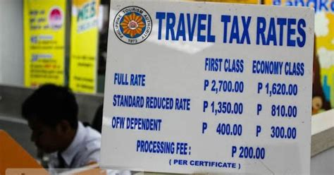 Philippine Airport Tax Rise removal of philippine travel tax proposed philippine