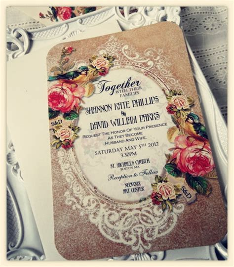 Wedding Invitation Vintage by Choose Your Invitation Style Vintage Wedding Invitations