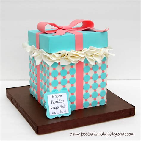 How To Make A Cake Box Out Of Paper - gift box cake tutorial harris cake design