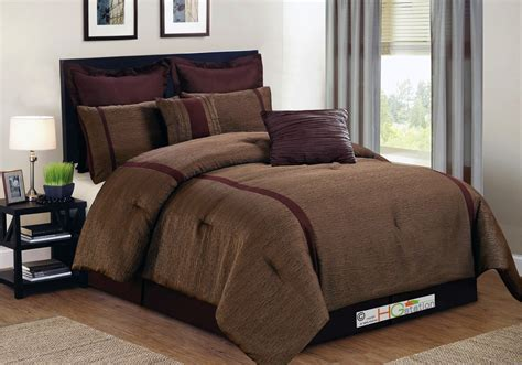 maroon comforter set 8 pc animal skin texture striped jacquard comforter set