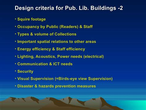 design criteria for library public library buildings in sri lanka an assessment