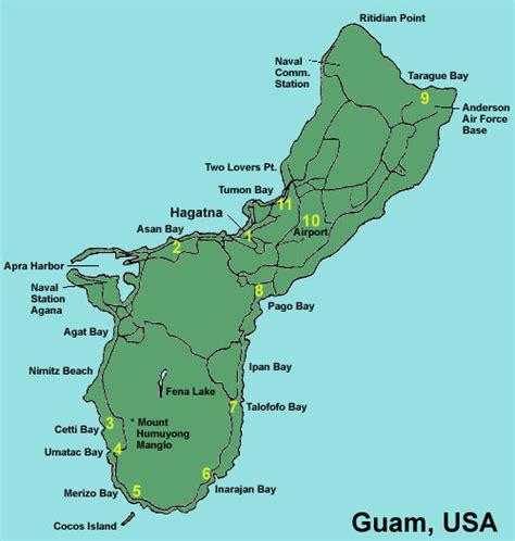 guam usa map map of guam territory of guam maps mapsof net