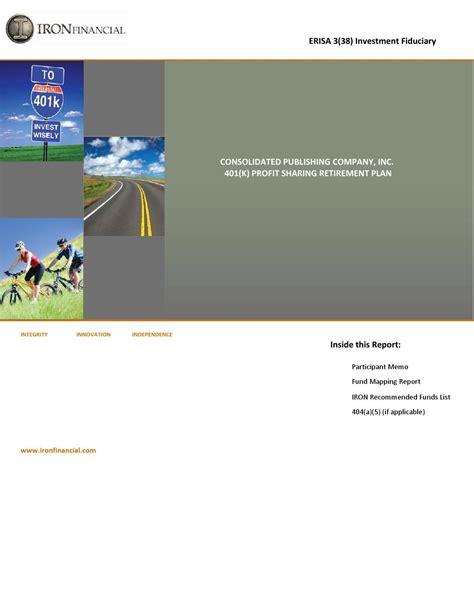 erisa section 404 401 k profit sharing by consolidated publishing co issuu