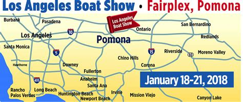 boat show 2017 map los angeles boat show january 18 21 2018 fairplex