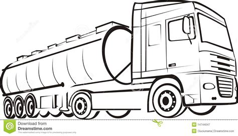 oil truck coloring page track lorry stock vector illustration of drive auto