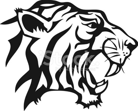 tiger sticker stock vector freeimages com