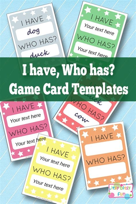 i who has cards template i who has template learning for itsy