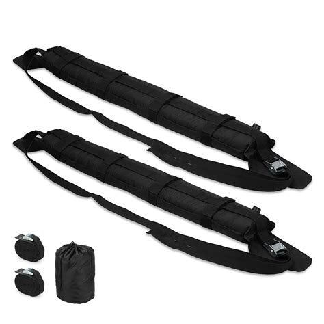 Canoe Straps Roof Rack by Pair Black Kayak Car Roof Rack Soft Pad Bars Luggage Straps Universal Ebay