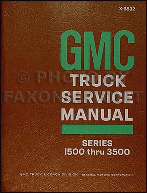 car repair manual download 1994 gmc vandura 3500 instrument cluster 1968 gmc 1500 3500 truck van repair shop manual original