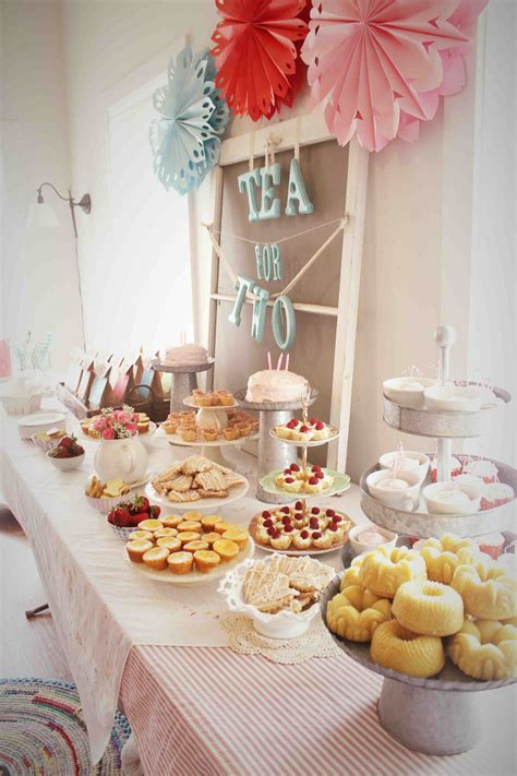 party table ideas a tea for two birthday party