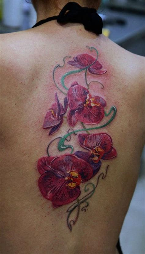 orchid flower tattoo pink orchid back dmitriy samohin the best