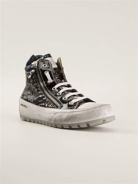 skin sneakers lyst candice cooper crocodile skin effect leather