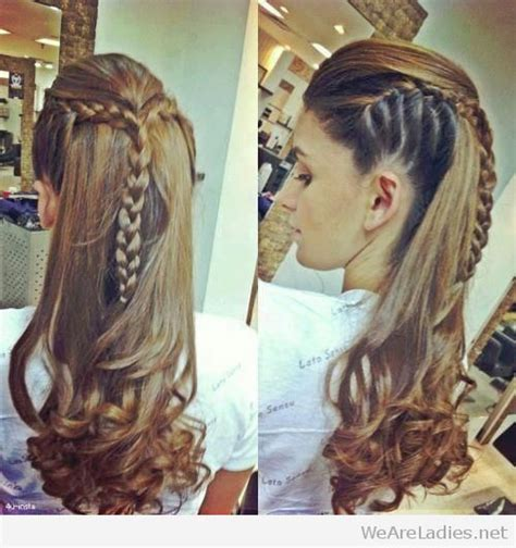 hairstyles with braids and curls to the side side braids and long curls