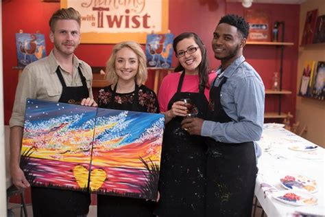 paint nite tx walk by faith class painting picture of painting with a