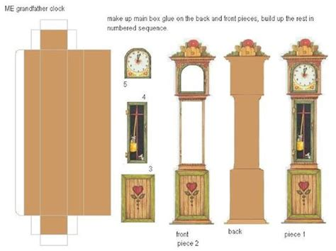 printable dollhouse clock grandfather clocks clock and dollhouses on pinterest