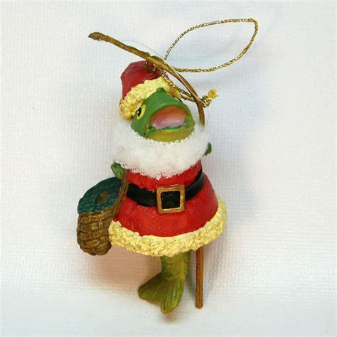 fish santa christmas ornament fishing theme