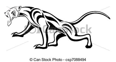 eps vector de leopardo tribal tatuaje vector leopardo