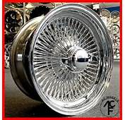 15x7 STANDARD 100 SPOKE WIRE WHEELS STRAIGHT LACE CHROME RIMS 4pcs